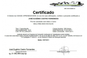 COORDENADORES DO PROGRAMA COLORIR RECEBEM CERTIFICADO DO CURSO SOBRE: